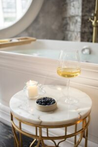 Natural Stone as a Bathroom Surround Rock Tops Fabrication